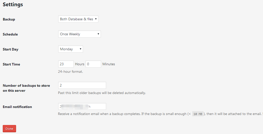 backupwordpress-setting