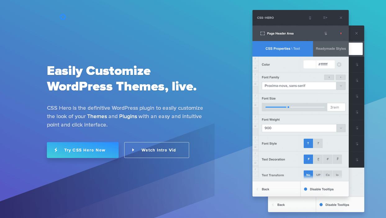 WordPress主题样式自定义外挂级工具:CSS Hero