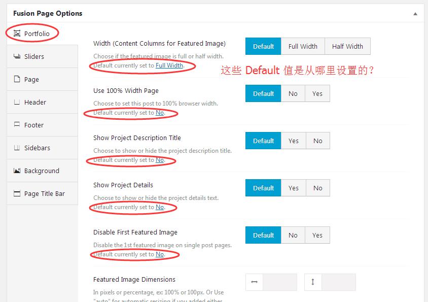 portfolio fusion page options portfolio