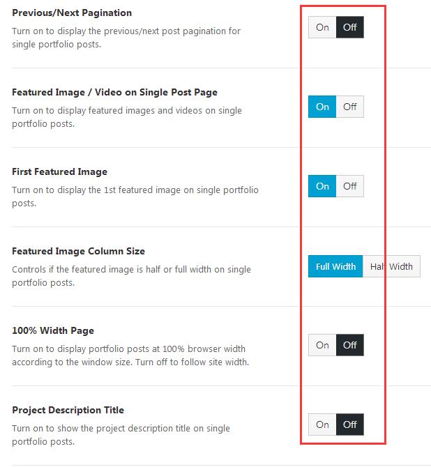 portfolio single post setting 1