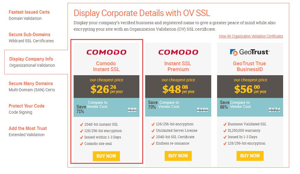 购买付费Comodo SSL证书及安装配置图文教程3