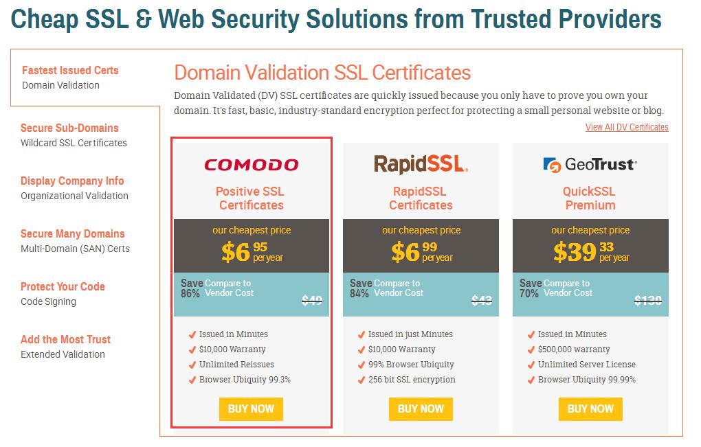 购买付费Comodo SSL证书及安装配置图文教程2