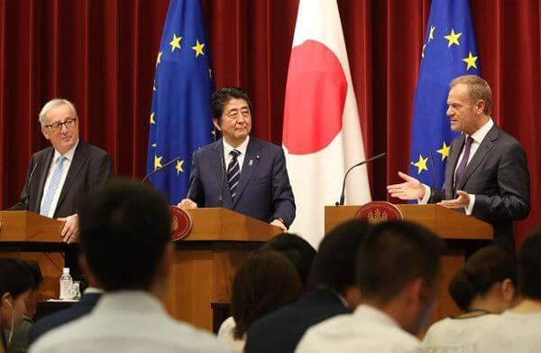 欧盟与日本终于签署自贸协定!对中国出口不利影响有限