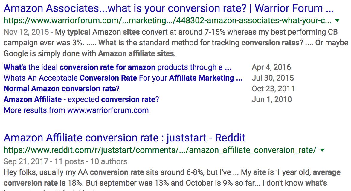 amazon affiliate转化率